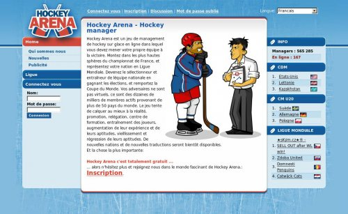 Jeu en ligne alternatif - Hockey arena