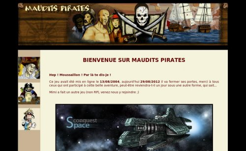 Capture d'écran du jeu web Maudits-pirates