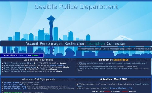 Capture d'écran du jeu web Seattle Police Department