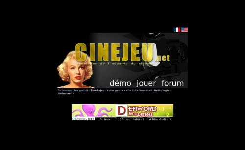 Capture d'�cran du jeu web Blockbuster