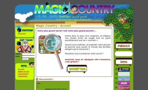 Jeu en ligne alternatif - Magic Country