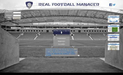 Capture d'écran du jeu web Real Football Manager