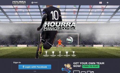 Capture d'écran du jeu web Hourra manager football online