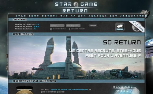 Capture d'écran du jeu web Star Game Return
