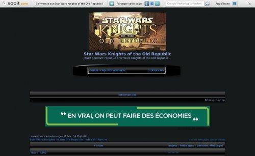 Star Wars KOTOR : froum RPG