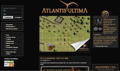 Atlantis Ultima : Le jeu de rôle en ligne